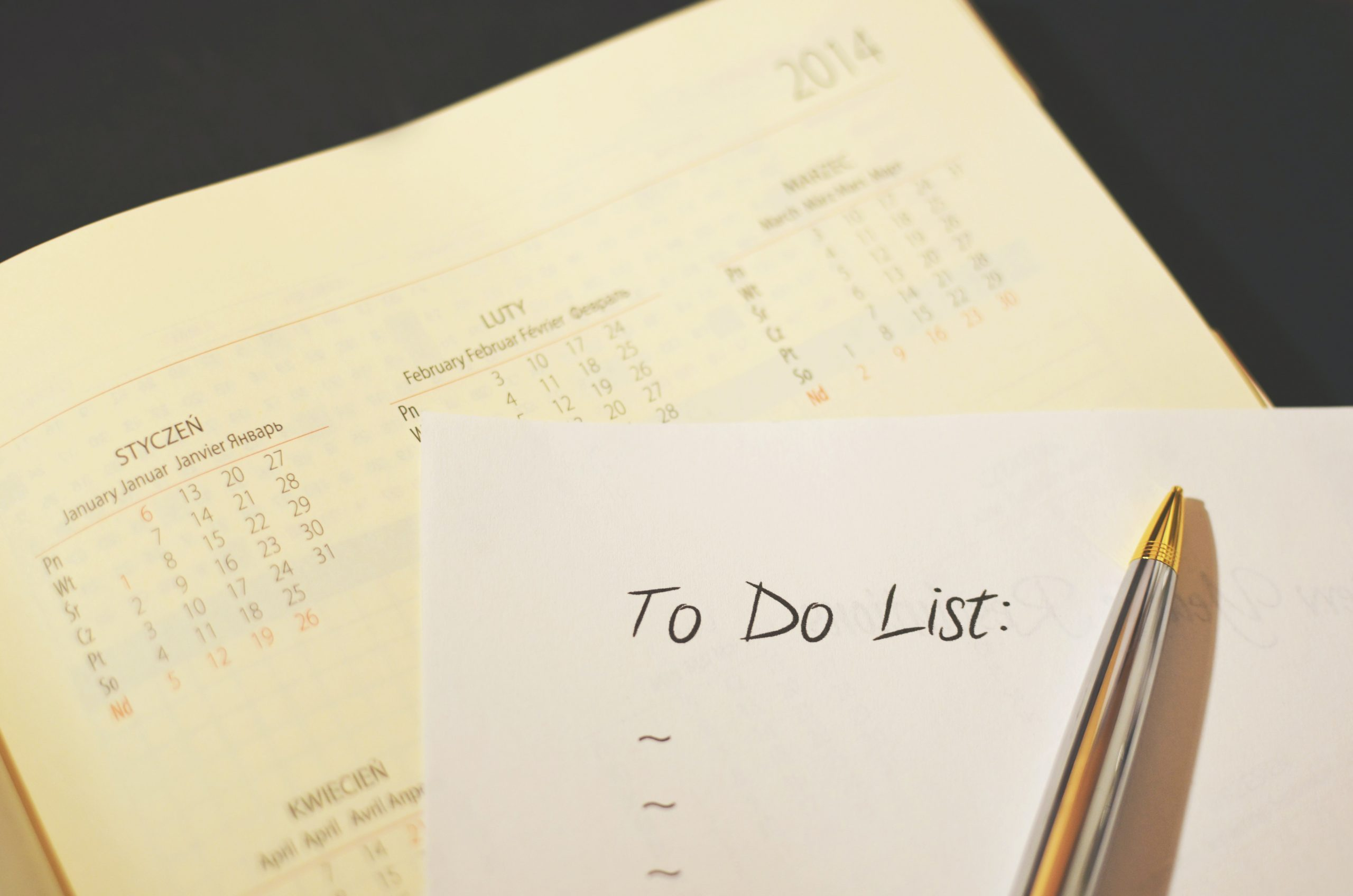 a to do list written on paper