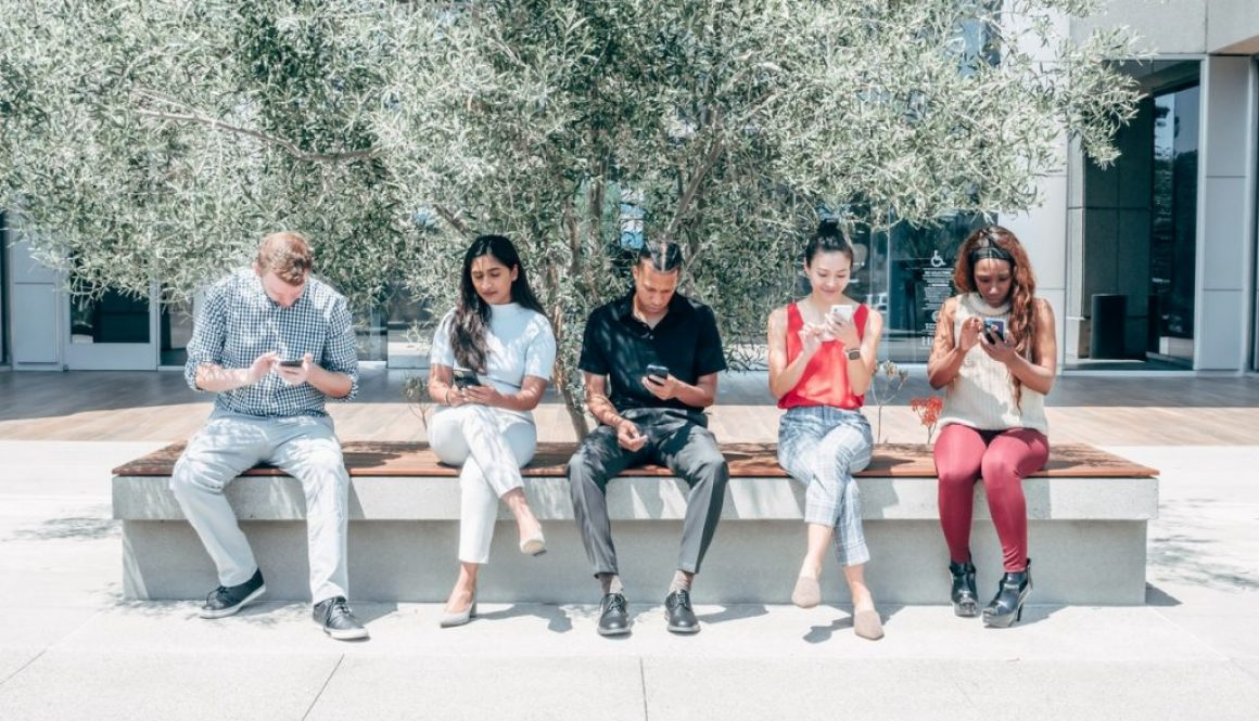 young people on phones